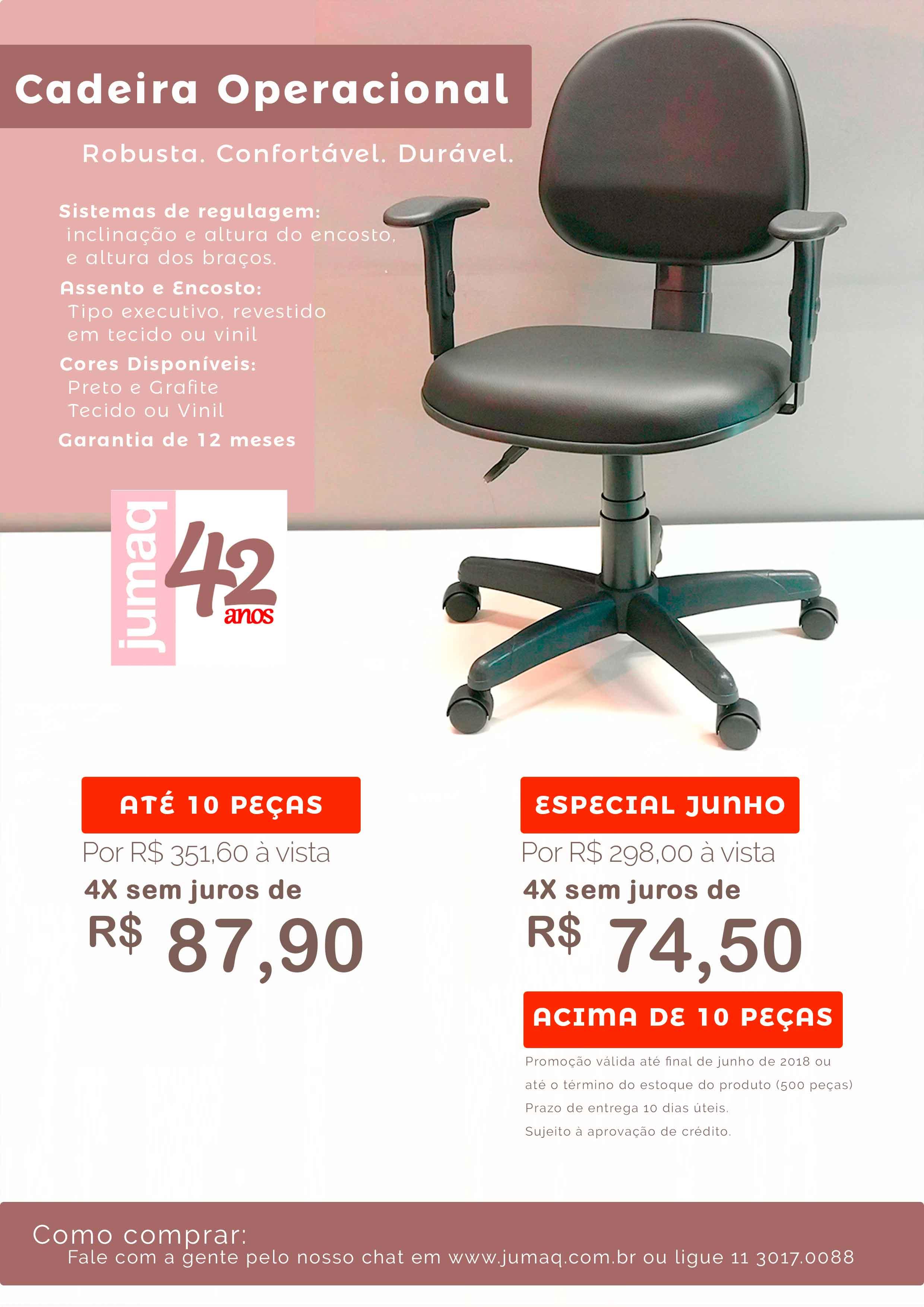 PROMOÇÃO cadeira executiva JUNHO
